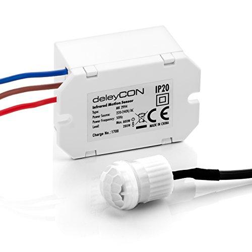 deleyCON Miniatura Infrarrojos Detector de Movimiento En el ...
