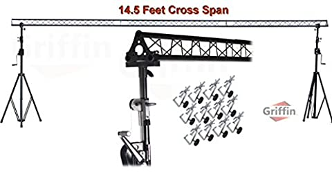 Crank Up Triangle Light Truss System by Griffin|DJ Trussing Stand for Light Cans & Speakers|Pro Audio Stage Lighting Hardware Package|Equipment Mount|Portable Gear Holder for Parties, Music, Live - Stage Lighting Package