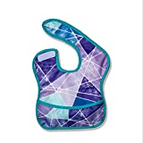Dual-Layer Waterproof Baby Bibs Washable Front Pocket Easily Wipe Clean Feeding Bibs forInfant Toddlers 0-4 Years (2#)