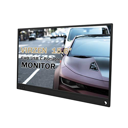 Portable Monitor 1920×1080 Display 15.6-inch Slim IPS Gaming Screen USB-C Dual External Monitor for Laptop Computer Mac Phone HDMI Device,PS4 Xbox,Nintendo,Raspberry pi,Mini PC,Mobile (Best Portable Monitor For Ps4)