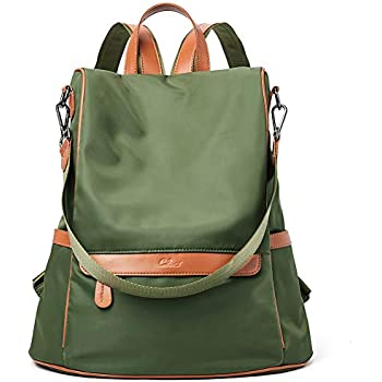 Women Backpack Purse Nylon Fashion Covertible Travel Large Designer Ladies  Shoulder Bag army green 1144e440512a6