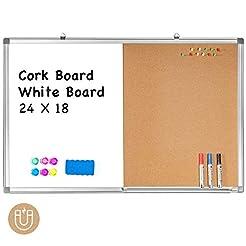 Combination White Board & Bulletin Cork ...
