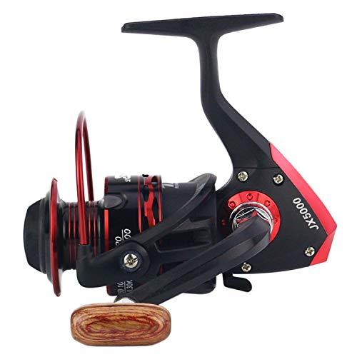 2019 Metal Spool Spinning Fishing Reel 12Bb Superior Wheel for Freshwater Saltwater Fishing 1000 7000 Series 5.5:1 Wheel Reel,Red,12,4000 Series