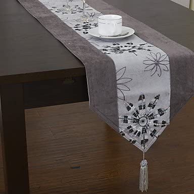 Bang floral de poliéster tinte de piezas de diseño clásico de ...