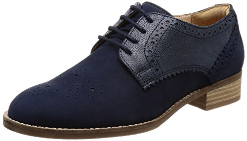Clarks Damen Netley Rose Brogues Marineblau