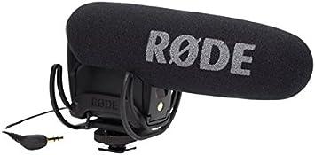 Rode VideoMic Pro R - Micrófono Externo para videocámara, Color Negro