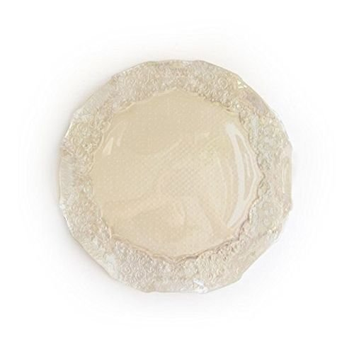 Iris Luster Pearl Glass Charger Plate