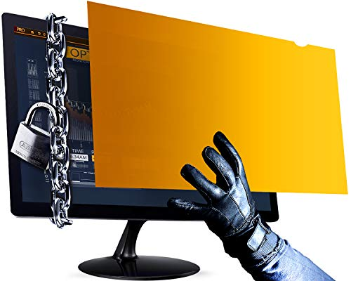 VINTEZ 24 Inch - Gold - High Clarity - Computer Privacy Screen Filter for Widescreen Computer Monitor - Anti-Glare - Anti-Scratch Protector Film for Data confidentiality - 16:9 Aspect Ratio ()