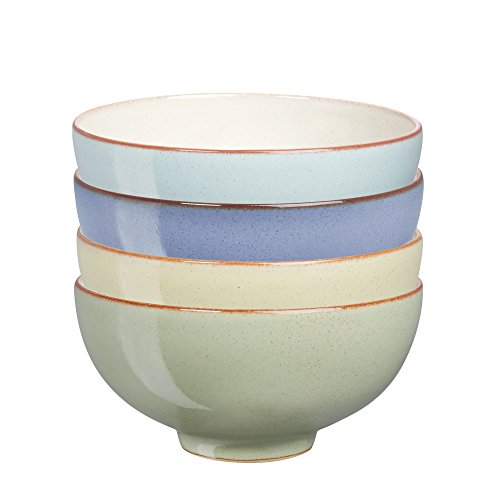 Denby USA Heritage Assorted Rice Bowls (Set of 4), Multicolor