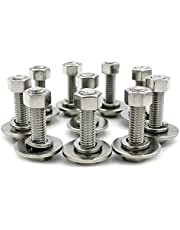 5/16 Stainless Steel Hex Head Screws Bolts, Nuts, Flat & Lock Washers