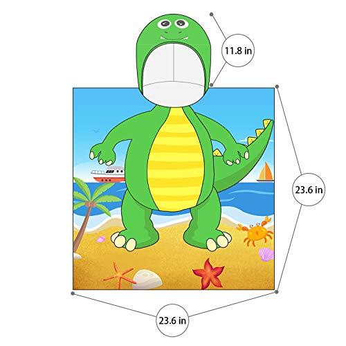Pknoclan Dinosaur Kids Hooded Bath Towel, Starfish Hooded Toddler Beach Towels for Kids, Super Soft and Absorbent Hooded Towels for Toddlers, Pool, Beach, Bath, Swim
