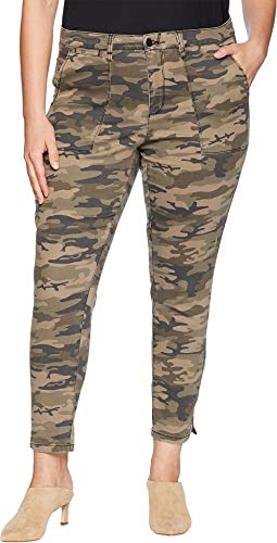Sanctuary Women's Plus Size Fast Track Zip Chino Pants Human Nature Camo 20 W 27 27