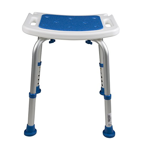 Pcp Bath Bench Shower Chair Safety Seat, Adjustable Height, Stability Grip Traction, Medical Grade Senior Living Spa Aid, Mobility Recovery Support, White/Blue by PCP (Image #4)