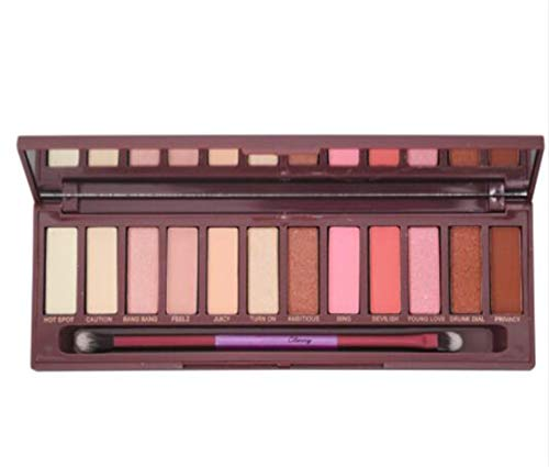 (Cherry Eyeshadow Palette Colorful Nude Shimmer Eyeshadow Pallete Eye Maquillaje Paleta De Sombra 12 Shades Army Green)