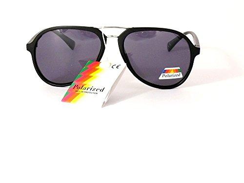mat femme homme polarisées verres polarisantes polarisés lunettes gris soleil aviateur 201306 monture de noire cityvision verres Faq1yO0c