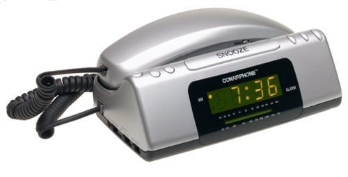 (Conair TCR200MS Clock Radio Telephone (Metallic Silver))