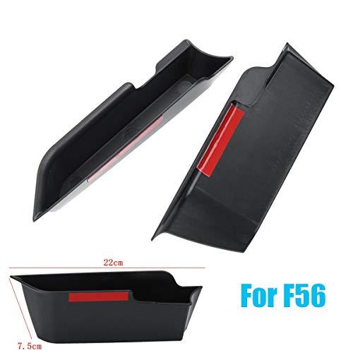 (Jonathan-Shop - 4pcs/set F55 2PCS/set F56 Car Inner Side Door Handle Armrests Storage Box Holder for Mini Cooper F55 F56 Car Styling Accessories)