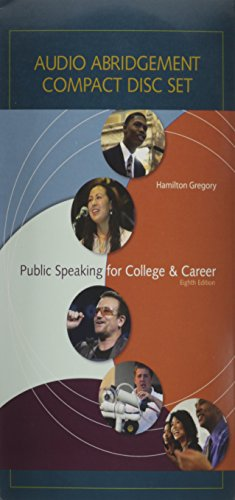 Audio CD Set t/a Public Speaking for College and - In Outlet Nh