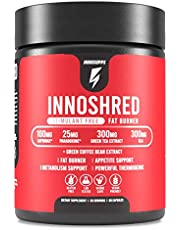 Inno Shred - Day Time Burner | Stimulant Free | 100mg Capsimax, Grains of Paradise, Green Tea Extract (60 Veggie Capsules) | (Stimulant Free)