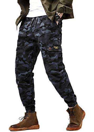 Cargo Pants for Men Camouflage Jogger Camo Pant Ranger Combat Trousers 6-Pockets 31