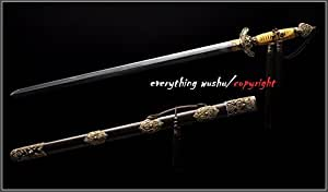 Premium Dragon and Phoenix Tai Chi Swords Kung Fu Straight Swords Taiji Jian (Flexible blade)