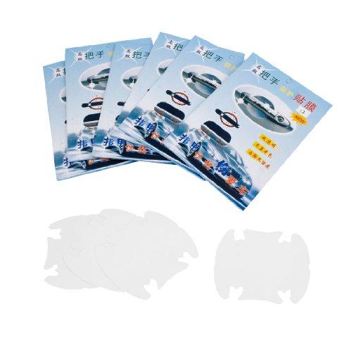 uxcell a13121100ux0212 24PCS Transparent PVC Door Handle Scratch Protector Film Car, 24 Pack