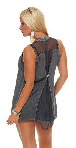 Livan`s - Camisas - Túnica - Básico - para mujer antracita