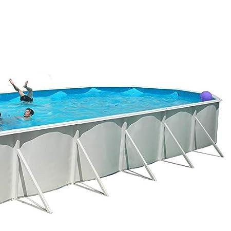 TOI - Piscina MALLORCA OVALADA 1.200x457x120 cm Filtro 10 m³/h: Amazon.es: Juguetes y juegos