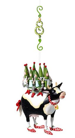Department 56 Krinkles Twelve Days of Christmas Eight Maids Hanging Ornament