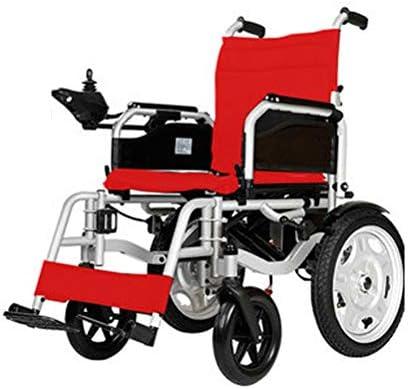 SPAQG フルレイアウト設計、手動および電動の2つのモード、折りたたみ式軽量輸送車椅子、17.7インチシート、足の不自由な人に適しています、旅行
