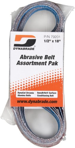 Dynabrade 79201 1/2-Inch by 18-Inch Belt Assortment Pak, Assorted