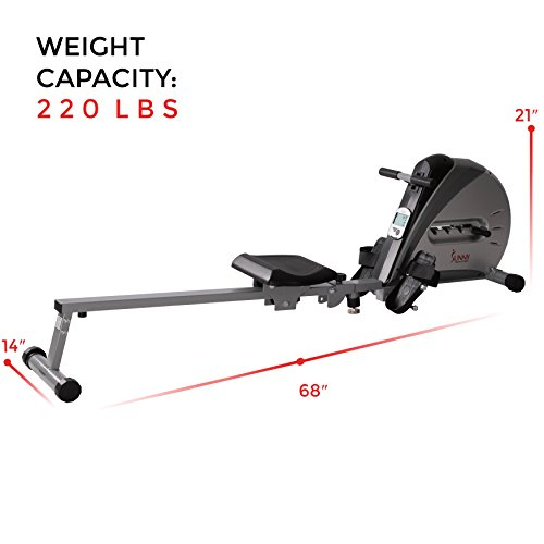 Sunny Health & Fitness SF-RW5606 Elastic Cord Rowing Machine Rower with LCD Monitor by Sunny Health & Fitness (Image #8)