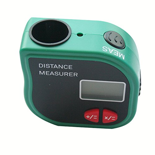 Grand Index Handheld ultrasonic distance meter STCP-3001 with flexible tape, with laser marker