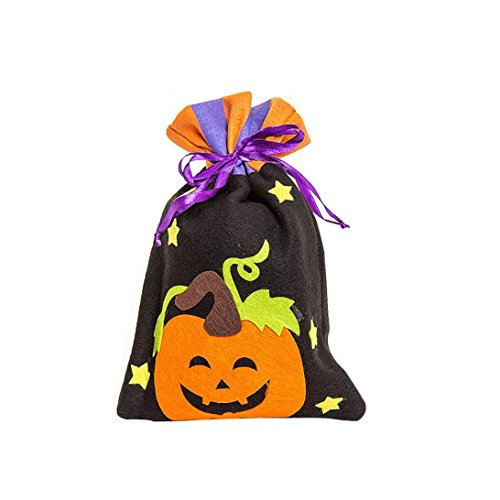 Halloween Kids Candy Handbag, Womail Drawstring Cute Witches Halloween Goody Tote Bags Children Party Storage Bag Gift --Halloween Memorable Bag Buckets. (B)
