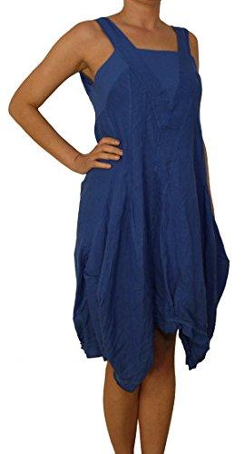 Vestito Blu Reale Donna Maniche Senza Basic Cut Out Perano 1xw0Z4dAq1