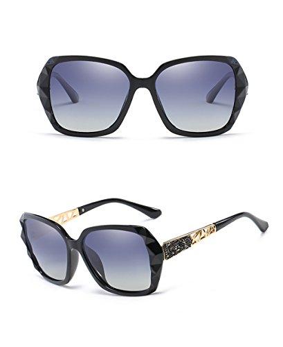 polarisées conduite soleil été Lentille lunettes Gris ovales Noir UV Rimmed de soleil Cadres lunettes Voyage de Cool Casual Des Gradient Lunettes de femmes Proof de de soleil ct781