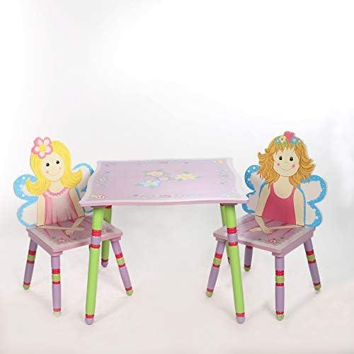 Multistore 2002 - Juego de mesa y sillas infantiles (madera), color rosa: Amazon.es: Bebé