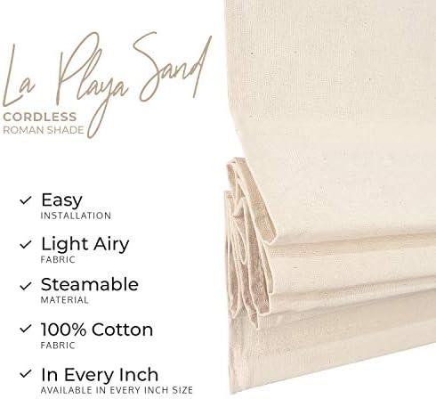 CHICOLOGY Cordless Roman Shades Rustic 100 Cotton Coast Vibe Cascade Window Blind Treatment