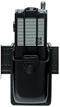 Safariland 762 Radio Carrier with Formed Pouch and Swivel Basketweave Black