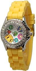 New Arrival-Small Sized Silicone Flower Watch-Yellow!