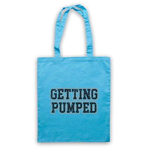 Getting Pumped Bodybuilding Workout Slogan Bolso Azul Cielo