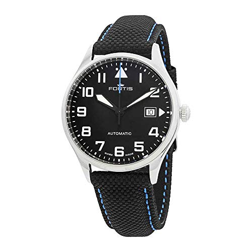 Fortis Pilot Classic Automatic Black Dial Men's Leather Watch 902.20.41.LP.15