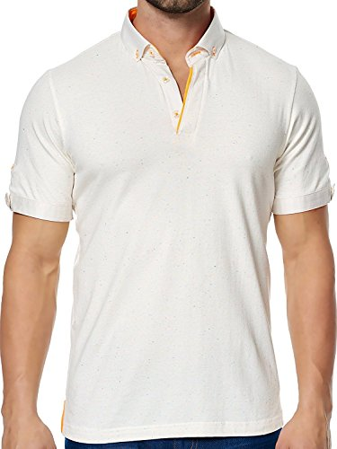 Maceoo Mens Designer Polo - Stylish & Trendy Sport Shirts - White ()