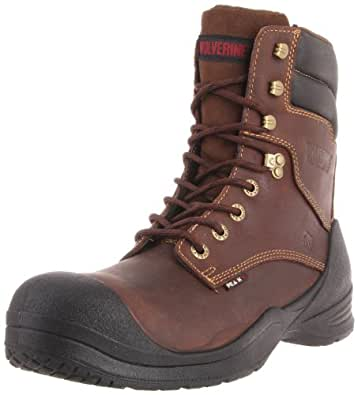 "Men's Wolverine 8"" Waterproof Rangel Composite Toe Boots Brown, BROWN, 8 3E"
