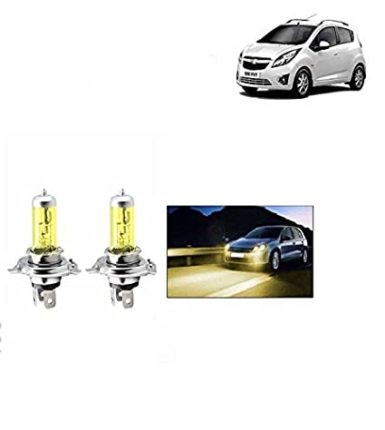 Carbazaar H4 Halogen Car Fog Headlight Bulbs Set Of 2 Yellow Chevrolet Beat Amazon In Car Motorbike
