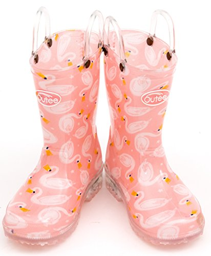 Pictures of Outee Toddler Girls Kids Light Up Rain GLP18ASWNPIN6 6