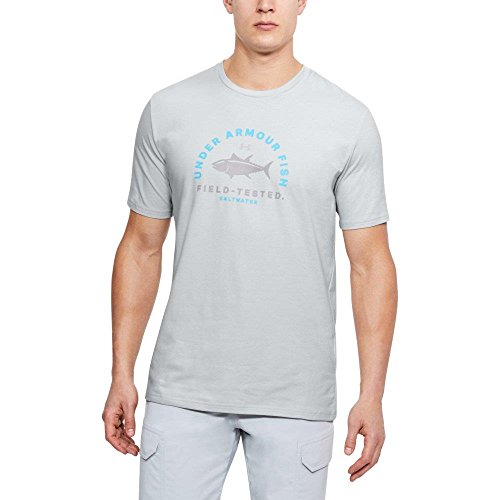 (Under Armour Outerwear Men's Tuna Field Tested T-Shirt, Elemental (094)/Steel, X-Large)