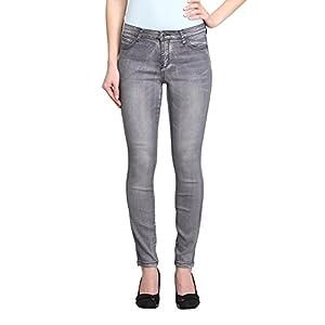 Women's Grey Mid-Rise Skinny Ankle Jeans (Digitale-AK)