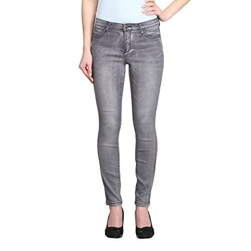 Allee Jeans Women's Grey Mid-Rise Skinny Ankle Jeans (digitale-AK) for cheap