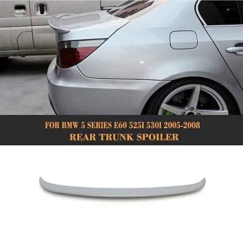 (BEESCLOVER FRP Unpainted Grey Primer Trunk Lip Spoiler for BMW E60 525i 528i 535i 550i 2005-2008 Show One Size)